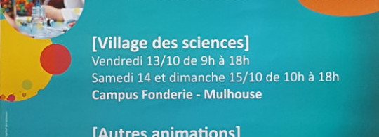 Fête de la science 2017 à mulhouse
